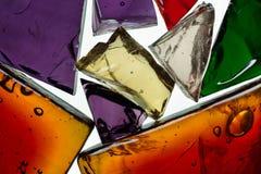 Decorative glass shards Royalty Free Stock Photos