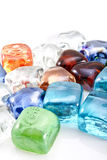 Glass stones background. Decorative glass stones background royalty free stock photography
