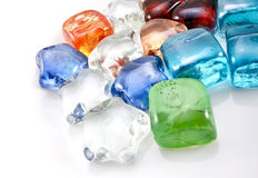 Glass stones. Decorative glass stones background royalty free stock photo