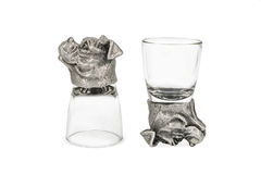 Decorative glasses with a dog head Royalty Free Stock Photo