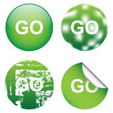 Decorative GO Signs Stock Photos