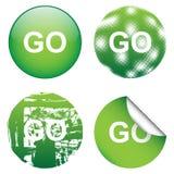 Decorative GO Signs Stock Photos