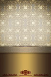 Decorative gold background with patterns. Royalty Free Stock Photography