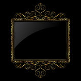 Decorative gold and black frame Stock Image