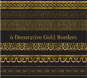 6 Decorative Gold Borders Royalty Free Stock Photo