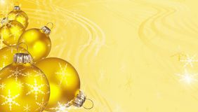 Decorative gold Christmas background Stock Images
