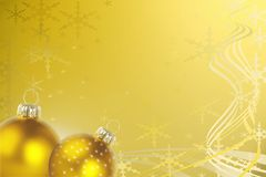 Decorative gold Christmas background Royalty Free Stock Images
