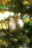 Decorative gold Christmas bauble Royalty Free Stock Image