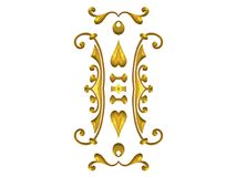 Decorative Gold Flourishes Stock Photos