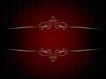 Decorative gold frame Stock Photography