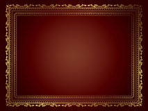 Decorative gold frame Stock Photography