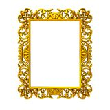 Decorative gold frame Royalty Free Stock Photos