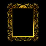 Decorative gold frame Stock Photo