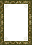 Decorative gold frame Stock Images