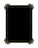 Decorative gold frame on a black background.  vector illustration