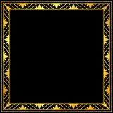 Decorative gold frame on a black background Stock Photography