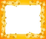 Decorative Gold Frame Border Stock Photography