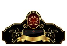 Decorative gold frame label Royalty Free Stock Photos
