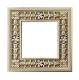 Decorative gold frame Stock Photos