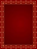 Decorative gold frame on a red background Royalty Free Stock Photo