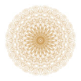 Decorative gold and frame with vintage round patterns on white! Stock Photo