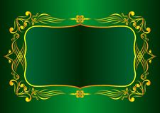 Decorative gold framework. Vector drawing of  decorative gold framework EPS8 Royalty Free Stock Photo