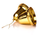 Decorative gold holiday bells Stock Images