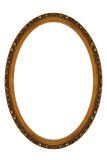 Decorative Gold Oval Frame. Photograph of a decorative gold oval frame stock photos