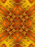 Decorative Gold Patterns 2. A dark abstract texture background pattern with gold, brown, red and orange flower designs vector illustration