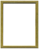 Decorative gold picture frame Stock Photography