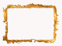 Decorative gold picture frame royalty free stock photography