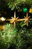 Decorative Gold Star ornament Royalty Free Stock Images