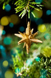 Decorative Gold Star ornament Royalty Free Stock Photography
