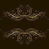 Decorative gold  tracery with place for text Stock Photos