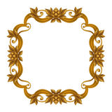 Decorative gold vintage frame isolated on white background, festive label clip art Royalty Free Stock Images
