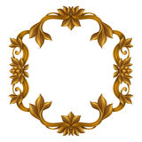 Decorative gold vintage frame isolated on white background, festive label clip art Stock Photography