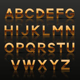 Decorative golden alphabet Stock Photos