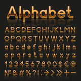 Decorative golden alphabet Royalty Free Stock Photo
