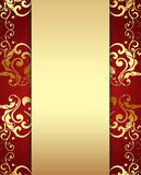 Decorative Golden Background Royalty Free Stock Photos