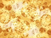Decorative golden background Royalty Free Stock Photography