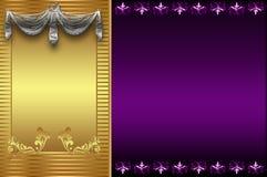 Decorative golden backround. royalty free stock image