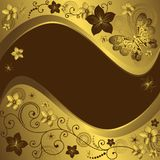 Decorative golden and brown frame Royalty Free Stock Image