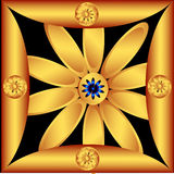 Decorative golden flower Royalty Free Stock Images