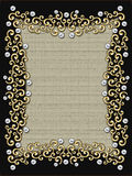 Decorative golden frame Royalty Free Stock Image