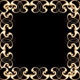 Decorative golden frame stock photo