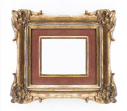 Decorative golden frame - ornate frame , classical Royalty Free Stock Photos