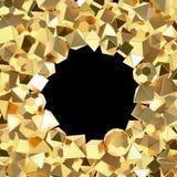 Decorative golden frame Stock Photography