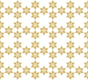 Seamless pattern with stylized ornament in oriental style. Decorative golden grille. Seamless pattern with stylized ornament in oriental style royalty free illustration