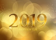 Golden Happy New Year background. Decorative Golden Happy New Year background royalty free illustration