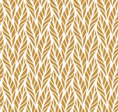 Decorative Golden Leaves Seamless Pattern. Continuous leaf background. Floral Texture. Geometric leaves vector seamless pattern. Abstract vector texture. Leaf Royalty Free Stock Photography